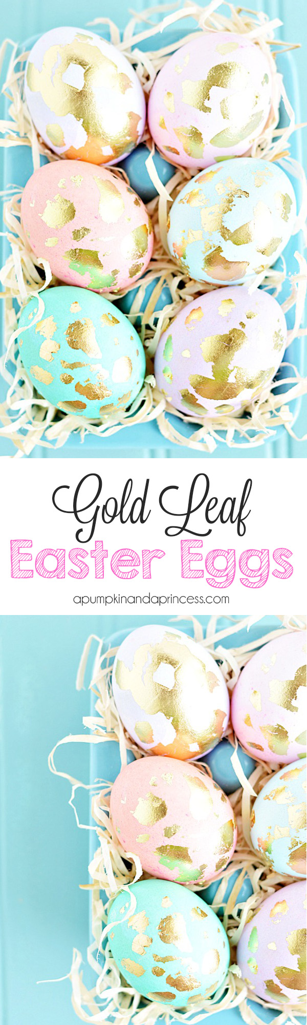 Gold Leaf Eggs
