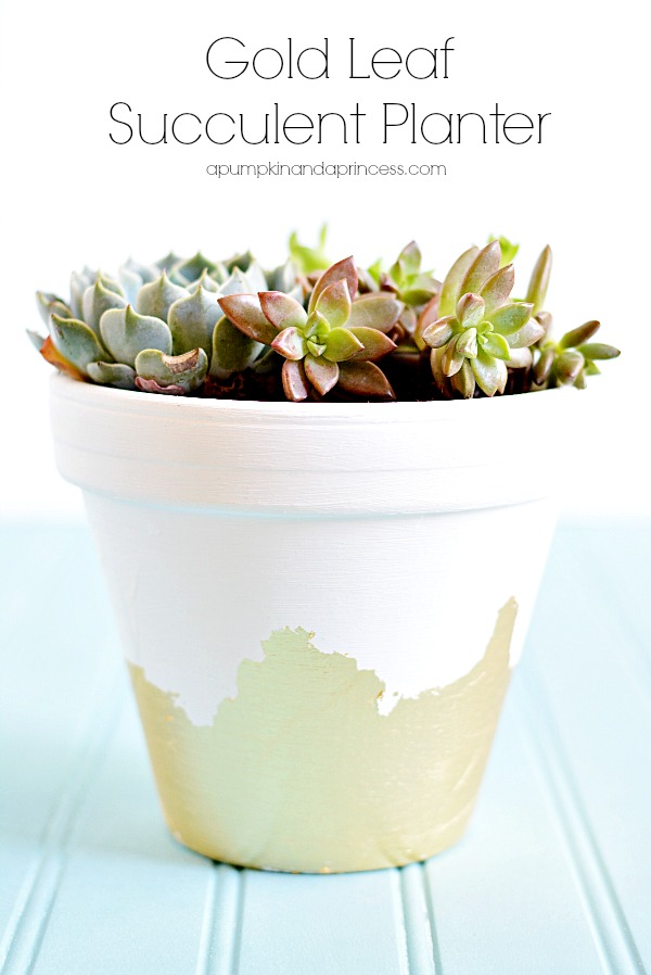 Gold Leaf Succulent Planter