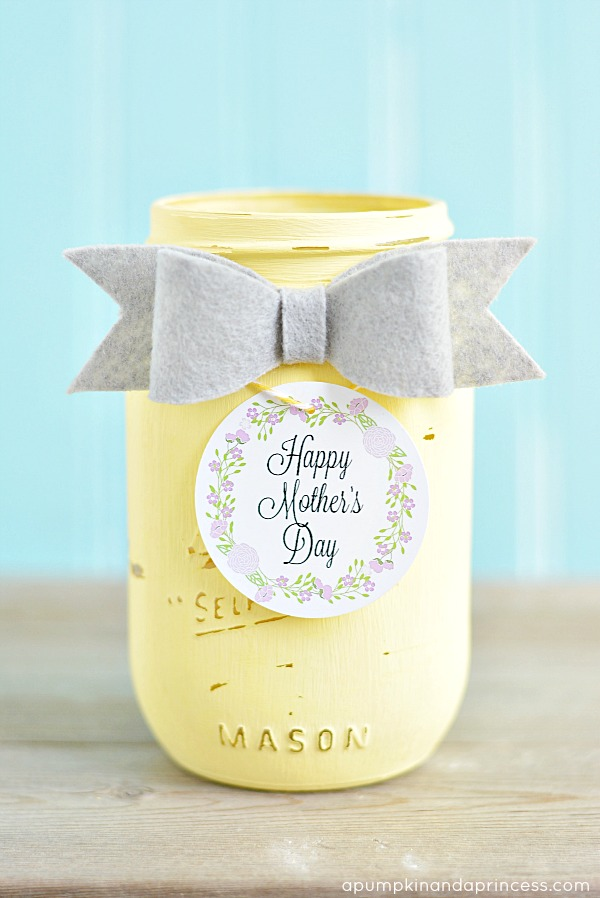 Chalky Finish Mason Jar - Mother's Day Gift Tags