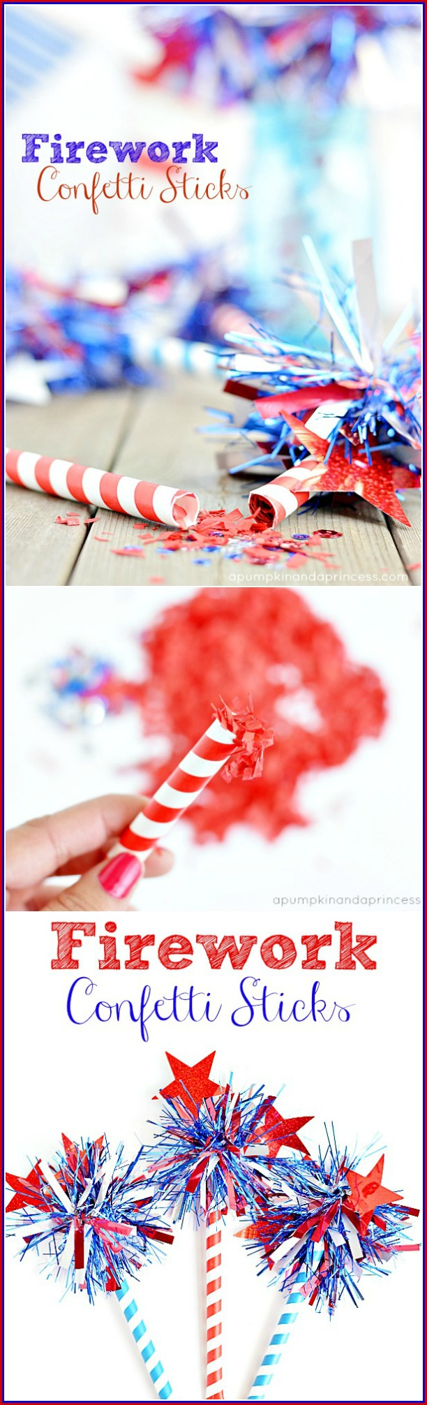 How to make confetti sticks tutorial
