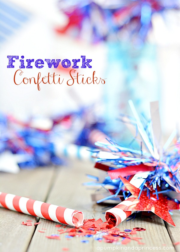 How to make Firework Confetti Sticks