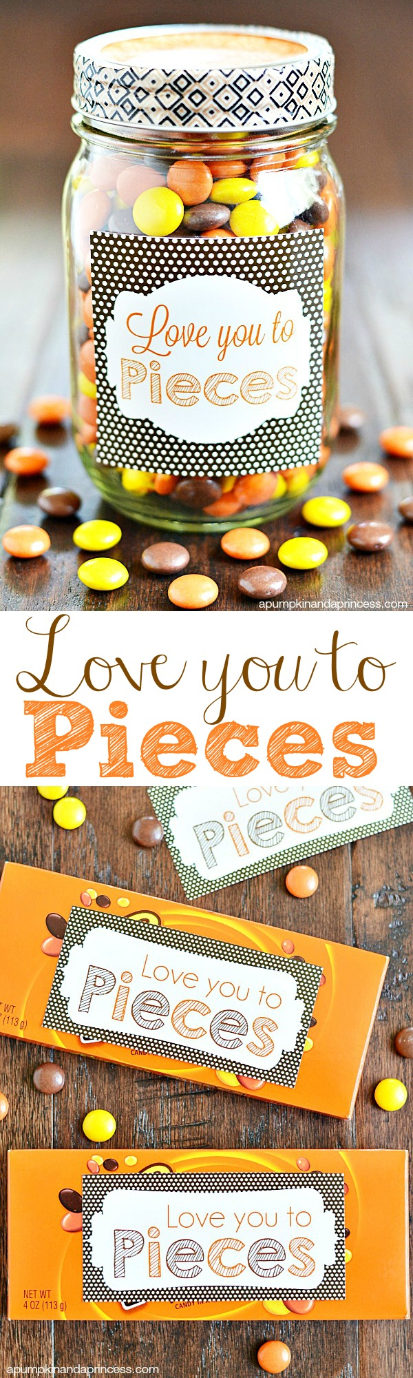 Love you to pieces printable tag