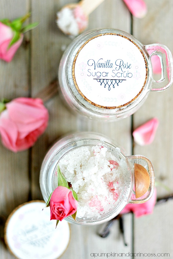 Vanilla Rose Sugar Scrub Recipe - Mother's Day Gifts