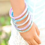 How to make glitter vinyl tube bracelets