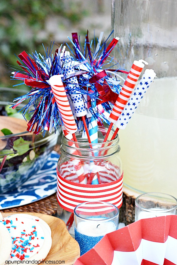 Fourth of July Party table decorations