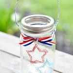 Confetti Star Mason Jar Lanterns