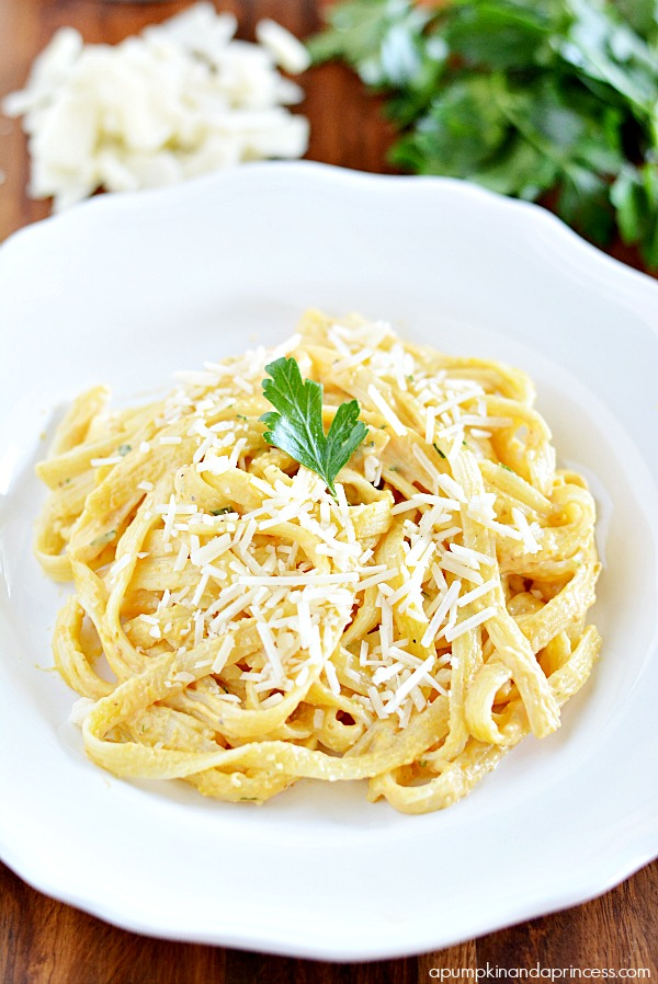 Parmesan Pumpkin Fettuccine Alfredo - A Pumpkin And A Princess