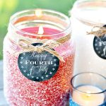 Patriotic Glitter Candles + Printable Tags