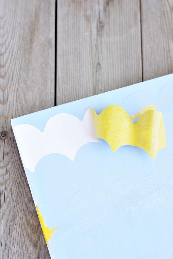Scallop Shape Tape - Wood Art