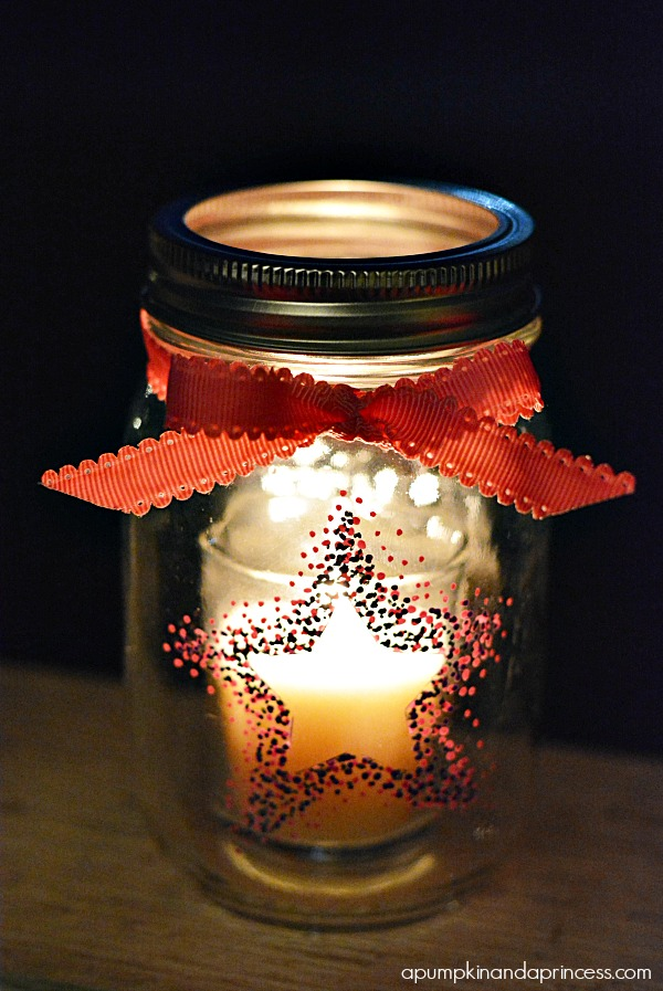 Star Mason Jar Lanterns