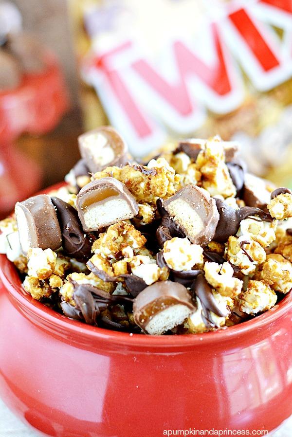 ... peas for twix caramel twix caramel popcorn recipe twix caramel popcorn