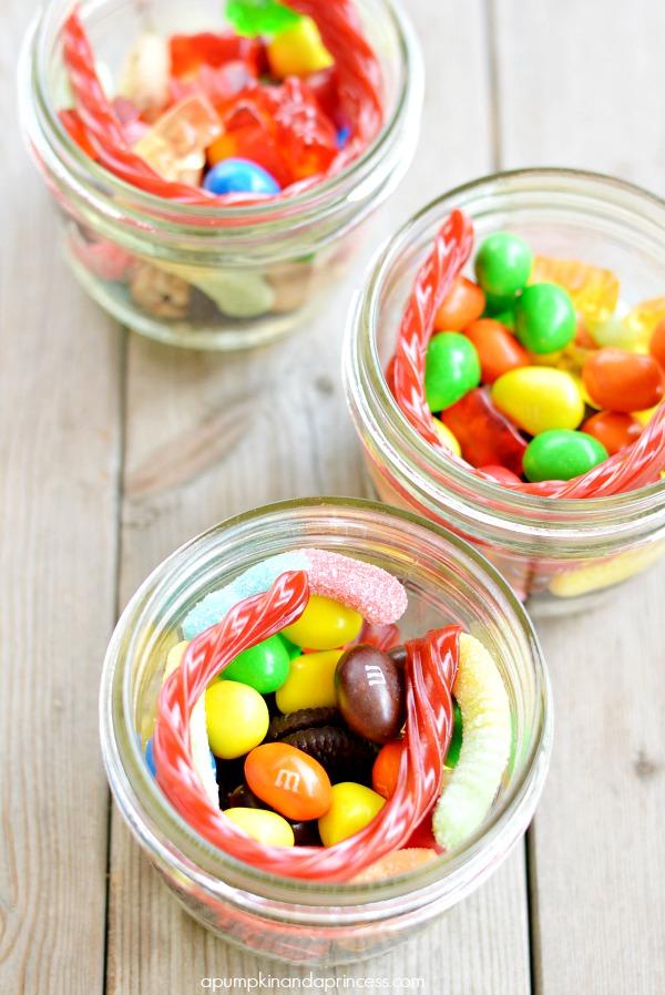 Candy Mason Jars - Movie Night Snacks