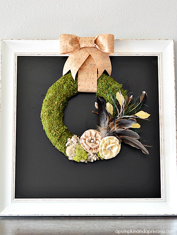 Moss and Feather Wreath