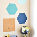 Ombre Hexagon Wall – Homework Station {giveaway}