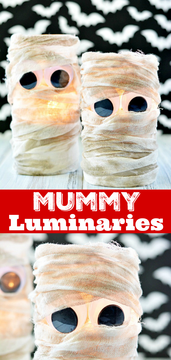 DIY Mummy Lanterns are easy to make and a great way to decorate your porch for Halloween
