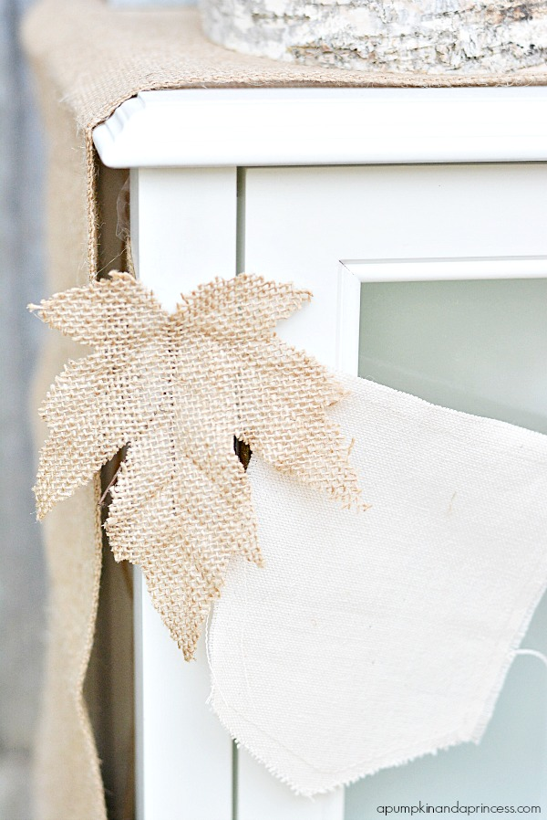 Fall Decorating - Burlap Leaves