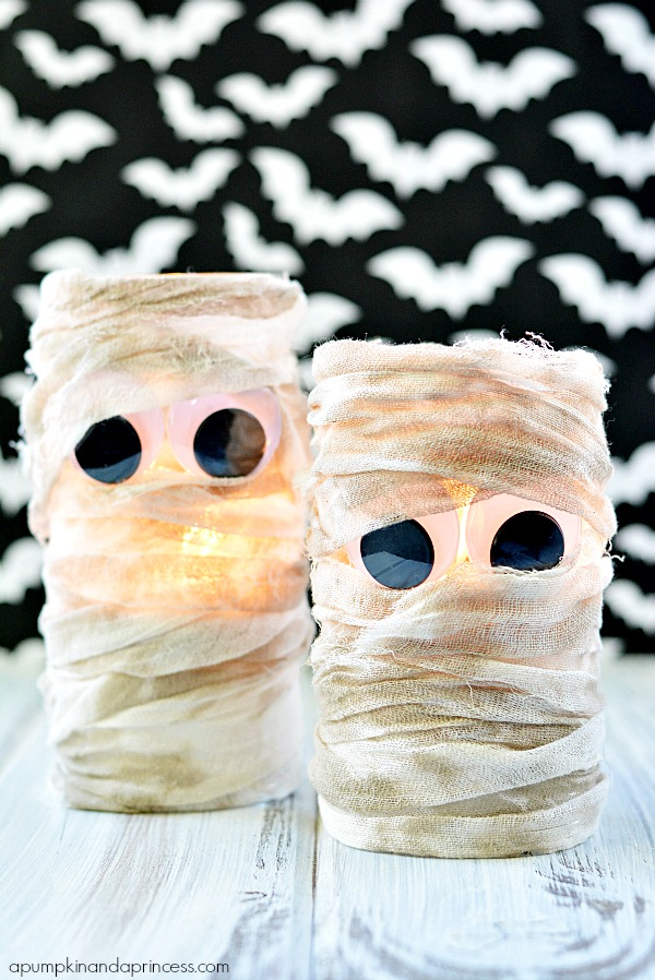 Halloween Cheesecloth Mummy Vase
