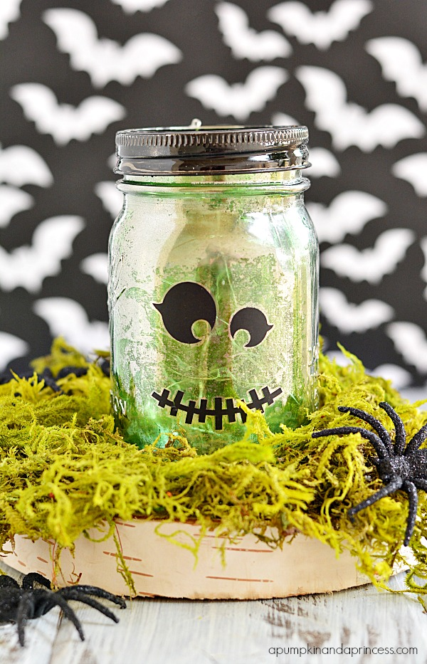 Mercury Glass Halloween Mason Jar