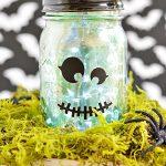 Mercury Glass Halloween Mason Jar