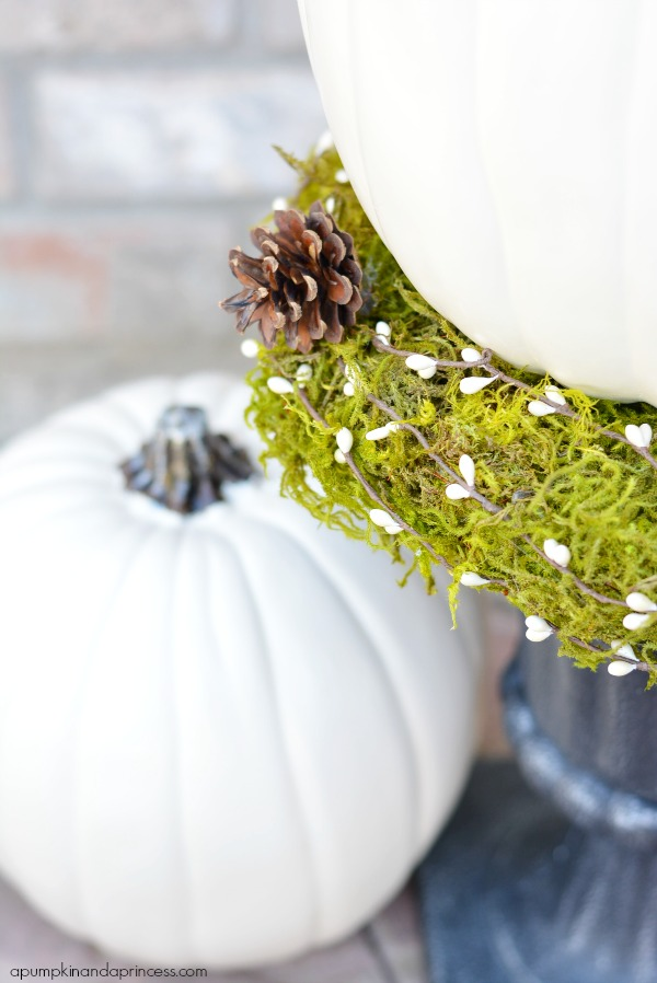 Moss Pumpkin Decor