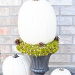 White Pumpkin Topiary