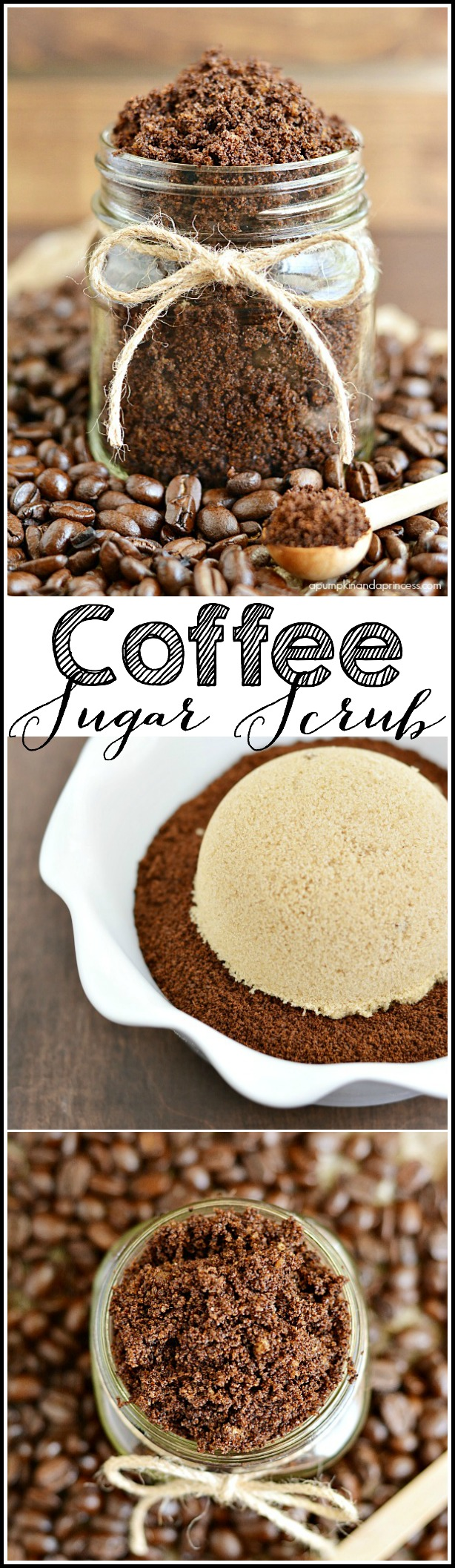 DIY Coffee Sugar Scrub recipe made with nourishing oils - great handmade gift idea!