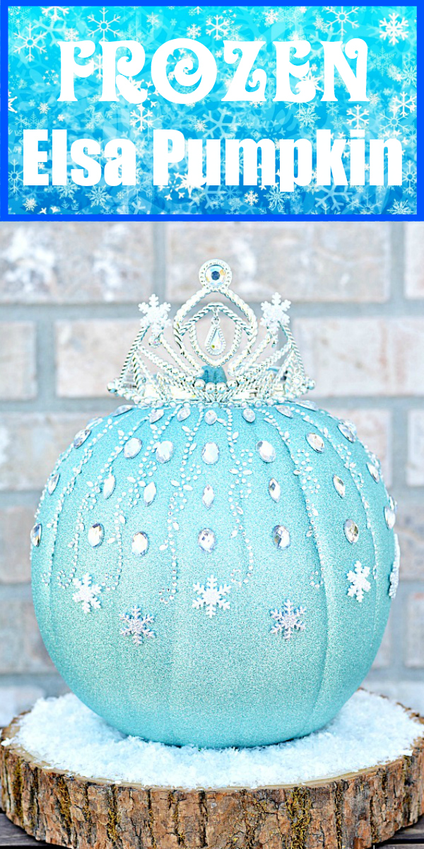 How to make a Disney inspired Elsa Pumpkin - easy DIY Halloween craft for kids
