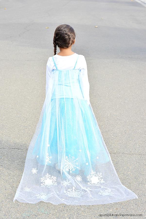 Diy disney elsa costume a pumpkin and a princess
