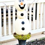 DIY Frozen Olaf Pumpkin Topiary