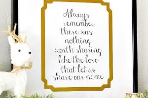 Family Quote Printable