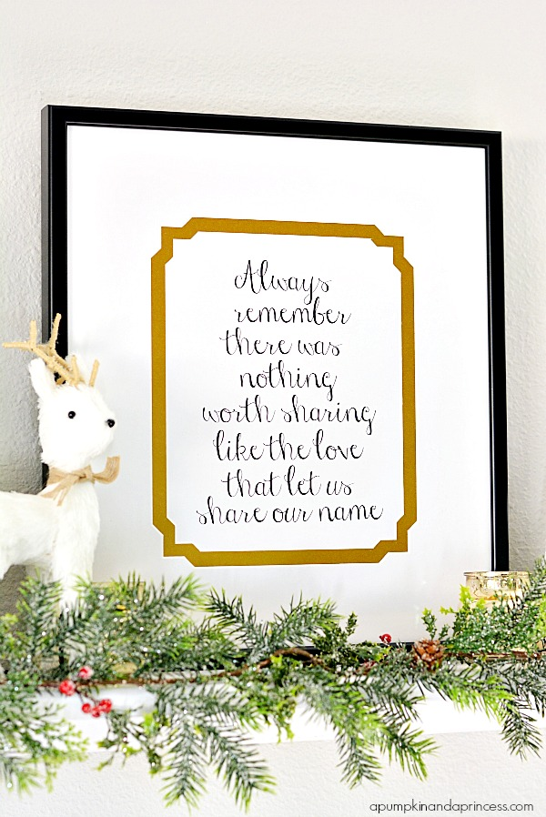 Custom Framed Family Quote {Printable}