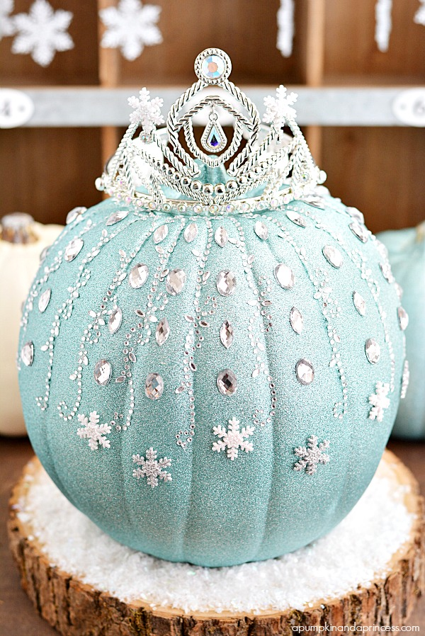 Disney Frozen Pumpkin Decorating