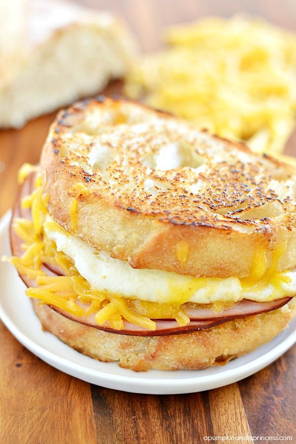 Ham and Fried Egg Sandwich