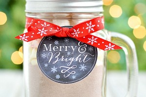 Hot Cocoa Gift - Mason Jar Mug