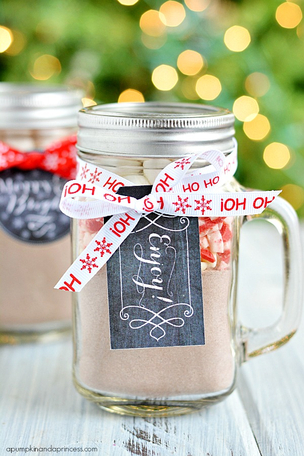 Mason Jar Christmas Gifts - Printable Tags
