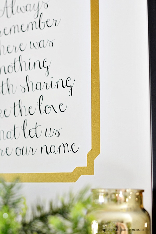 Custom Framed Family Quote {Printable} - A Pumpkin And A Princess
