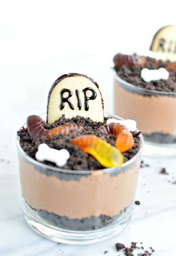 graveyard cups - halloween treats