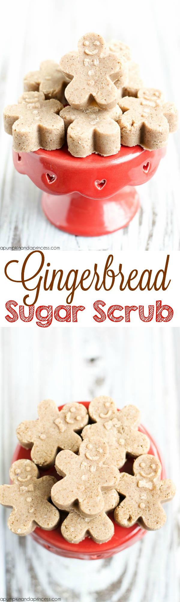 Gingerbread sugar scrub cubes
