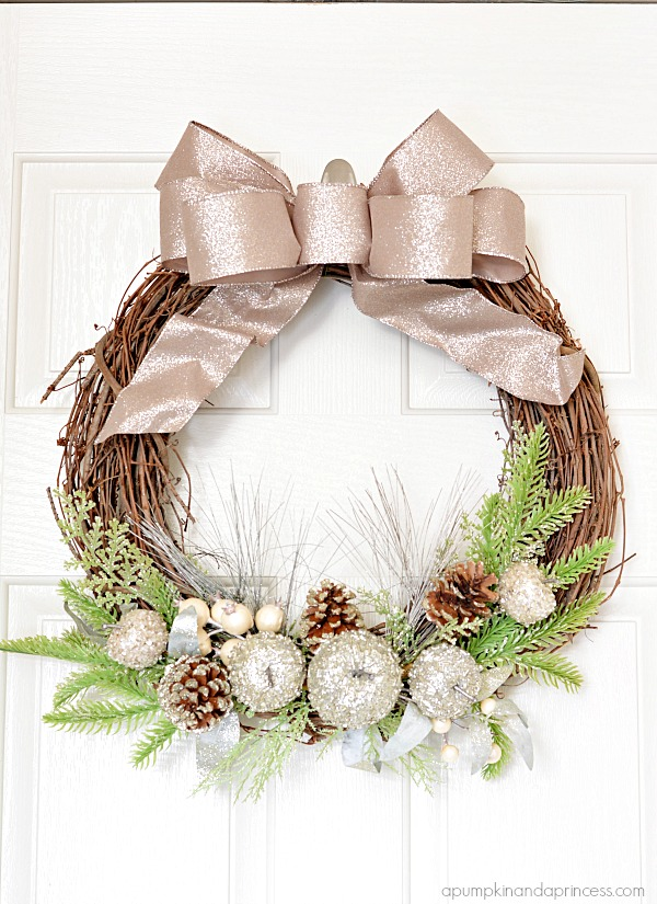 Glitter Holiday Wreath