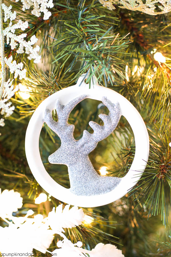 Handmade Glitter Deer Ornament