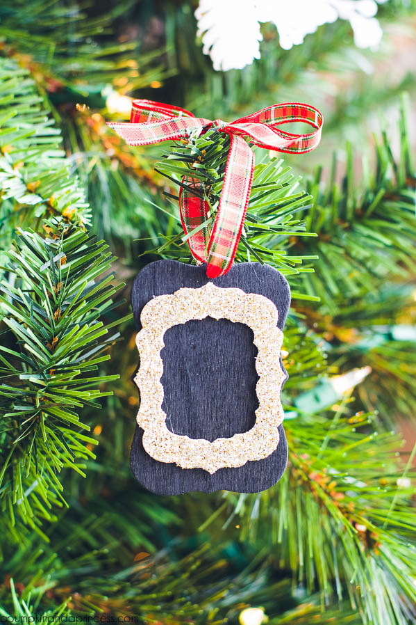chalkboard tag ornaments
