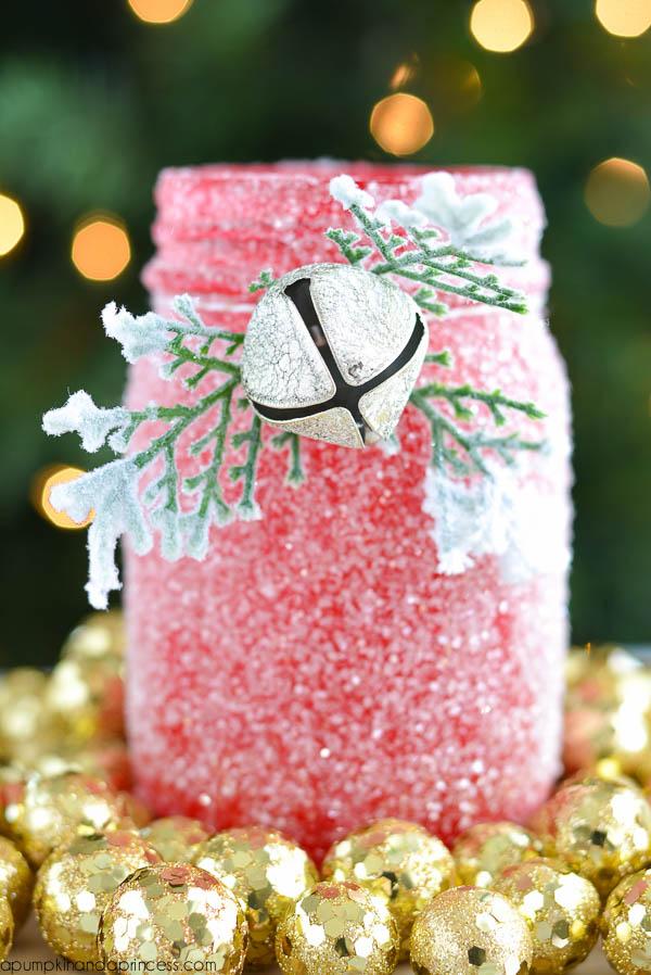 Diy glitter mason jar luminary a pumpkin and princess