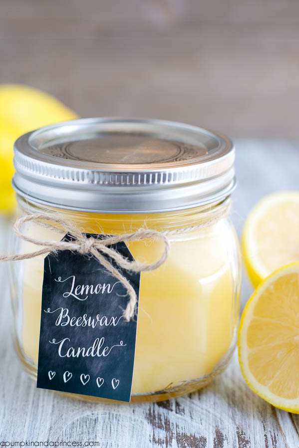 DIY Beeswax Mason Jar Candle