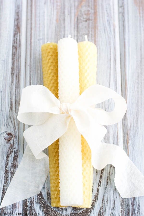 DIY Beeswax Pillar Candles
