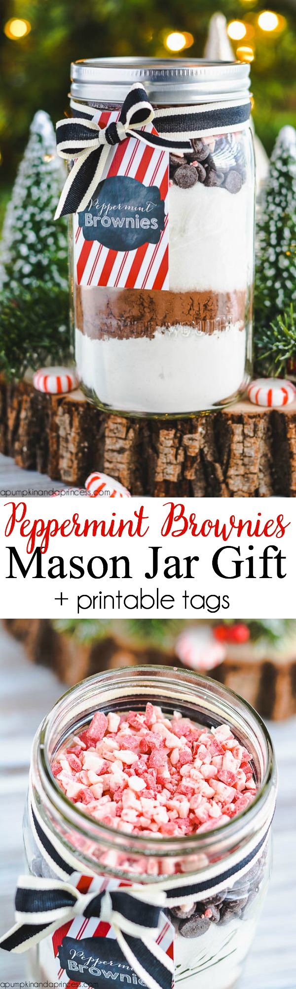 Peppermint Brownie Mix - Mason Jar Gift