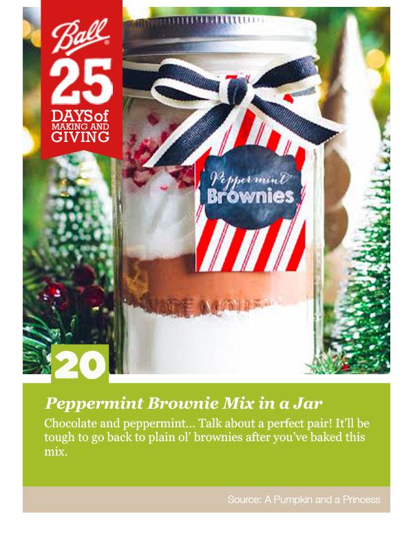 Peppermint Brownie Mix in a Jar