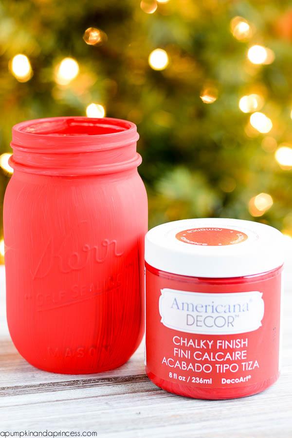chalky finish mason jar