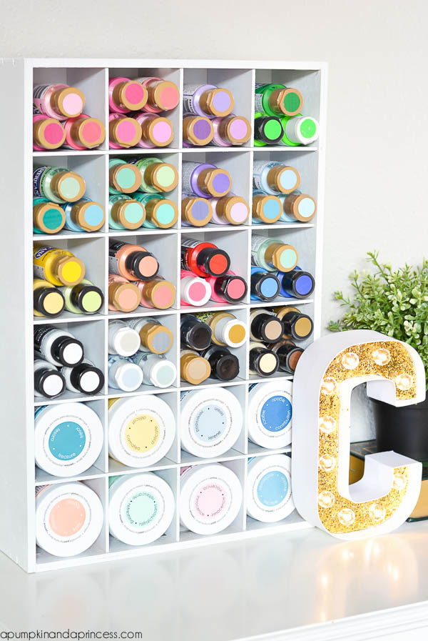 Craft Paint Organizing Ideas