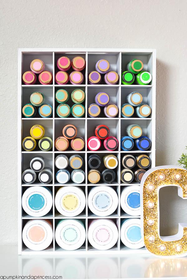 Craft Supply Cubby Organizer