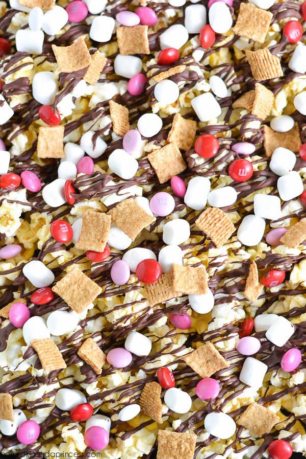Valentines S'mores Popcorn Recipe